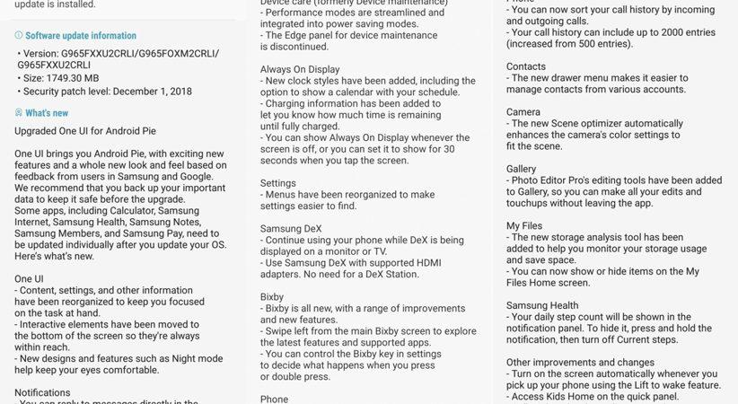 عرضه نسخه پایدار اندروید پای برای گلکسی اس ۹ آغاز شد