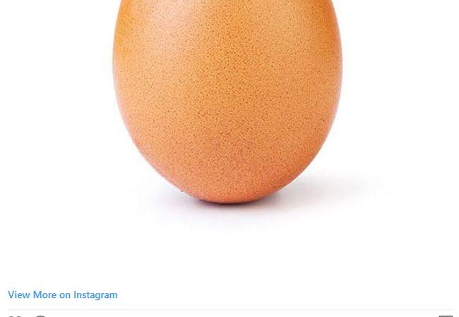 تصویر یک تخممرغ مرموز رکورد لایک را در اینستاگرام شکست