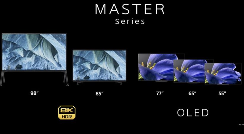 سونی از نسل جدید تلویزیونهای ۴K و ۸K رونمایی کرد