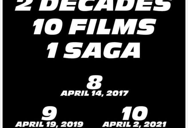 تاریخ اکران سه قسمت آیندهی مجموعه فیلمهای سریع و خشن مشخص شد