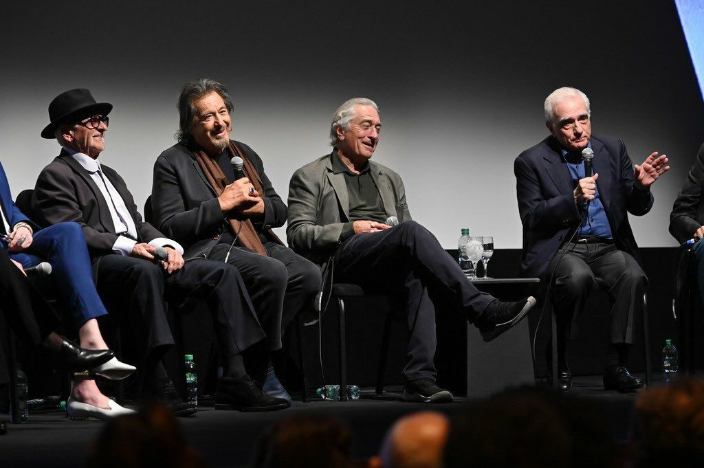 scorsese pesci pacino and deniro at newyork festival